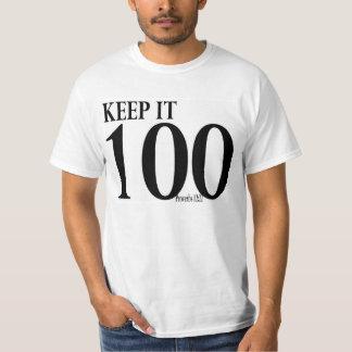 Guárdelo 100 camisetas del 12:22 de los proverbios playeras