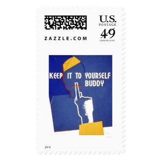 Guárdelo a sí mismo WWII WPA 1942 Timbre Postal