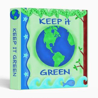 """Guárdelo arte verde del ambiente de la tierra de carpeta 1"""""""