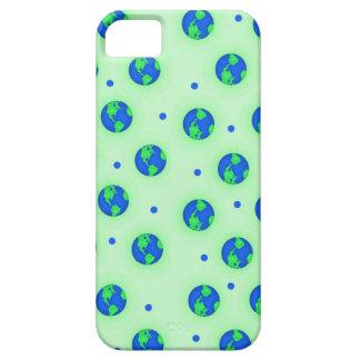Guárdelo arte verde del modelo del globo de la funda para iPhone SE/5/5s