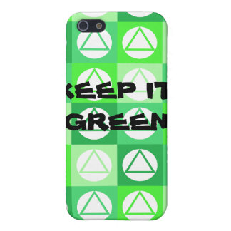 Guárdelo caja verde del iPhone 4/4S iPhone 5 Carcasas