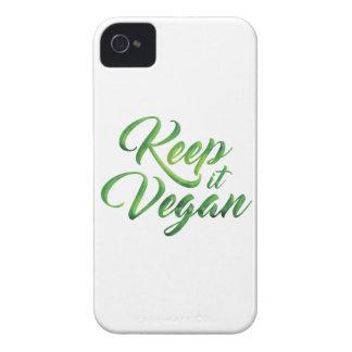 Guárdelo cita feliz del vegano carcasa para iPhone 4 de Case-Mate