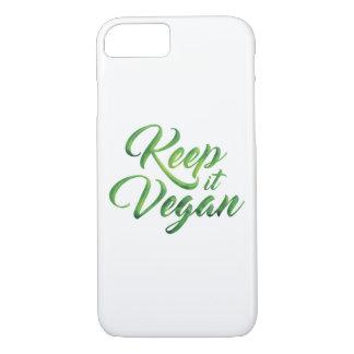 Guárdelo cita feliz del vegano funda iPhone 7