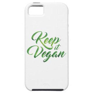 Guárdelo cita feliz del vegano funda para iPhone SE/5/5s