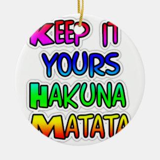 GUÁRDELO EL SUYO los regalos de Hakuna Matata Adorno Navideño Redondo De Cerámica