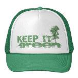 Guárdelo gorra verde del camionero
