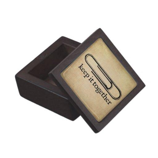 Guárdelo junto caja de regalo caja de joyas de calidad