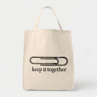 Guárdelo junto para empaquetar bolsas de mano