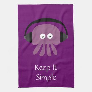 Guárdelo las medusas y los auriculares simples toallas