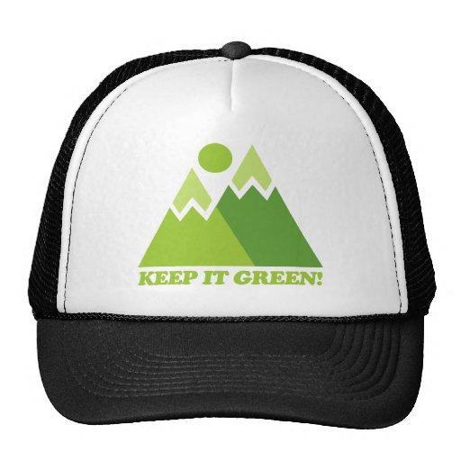 Guárdelo las montañas verdes gorras de camionero