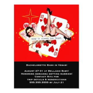 Guárdelo Las Vegas con clase Bachelorette Invitación Personalizada