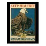 Guárdelo libremente Segunda Guerra Mundial Postal