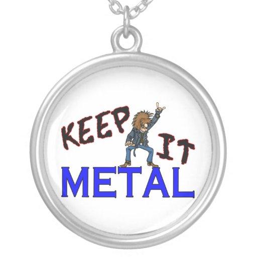 Guárdelo metal colgantes personalizados