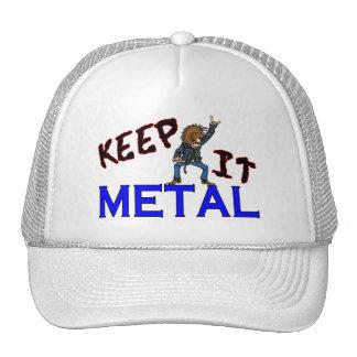 Guárdelo metal gorro