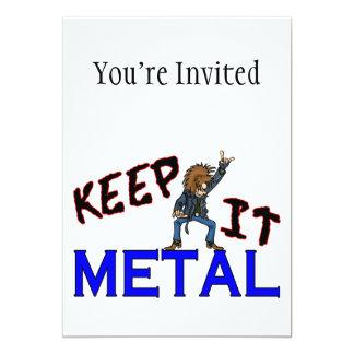 """Guárdelo metal invitación 5"""" x 7"""""""