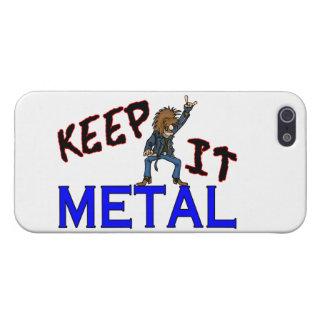 Guárdelo metal iPhone 5 carcasas