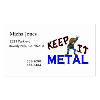 Guárdelo metal tarjetas de visita