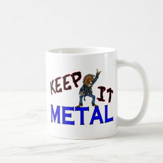 Guárdelo metal taza básica blanca