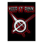 GUÁRDELO música PUNKY del punk de los chicas de lo Tarjetón