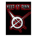 GUÁRDELO música PUNKY del punk de los chicas de lo Tarjetas Postales