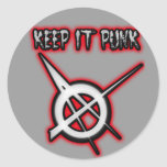 GUÁRDELO música PUNKY del punk de los chicas de Pegatinas Redondas