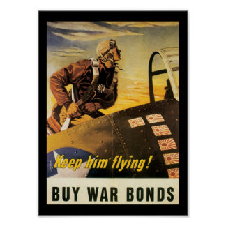 Guárdelo Segunda Guerra Mundial del vuelo Posters