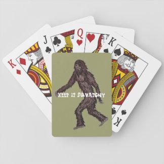 Guárdelo Squatchy Cartas De Póquer