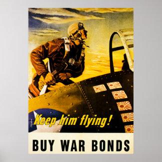 ¡Guárdelo vuelo!  Compre el vintage WW2 de los Póster