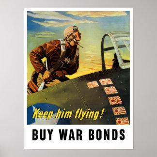 ¡Guárdelo vuelo! Compre enlaces de guerra Póster
