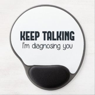 Guárdeme el hablar le están diagnosticando alfombrilla gel
