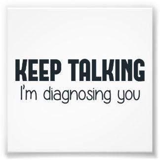Guárdeme el hablar le están diagnosticando fotografía