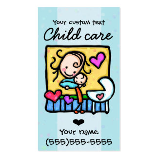 Guardería 2 de la niñera del cuidado de niños que  plantillas de tarjeta de negocio