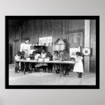 Guardería afroamericana en Hampton, VA 1899 Póster
