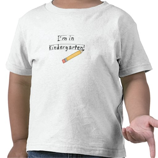 Guardería alineada del papel y del lápiz camiseta