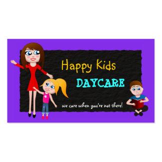 Guardería, cuidado de niños, tarjetas de visita
