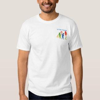 Guardería de la plantilla de la camiseta playera