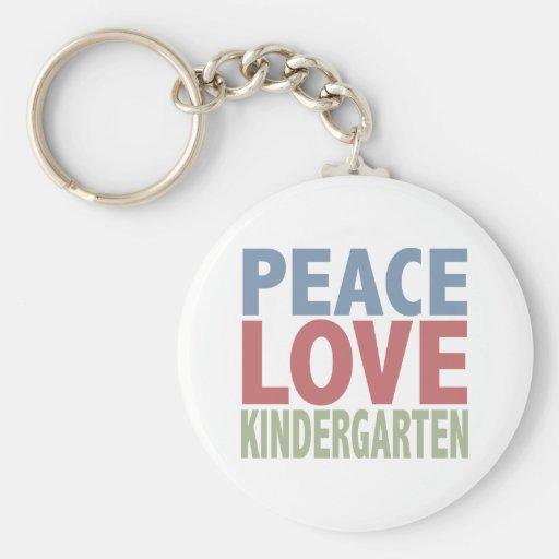 Guardería del amor de la paz llavero redondo tipo pin