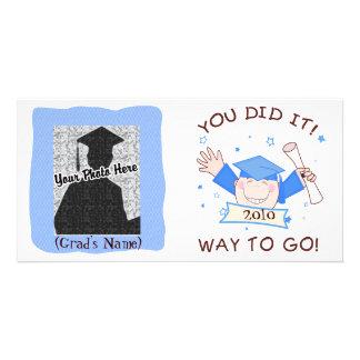 Guardería graduada del muchacho/tarjeta preescolar tarjetas fotograficas