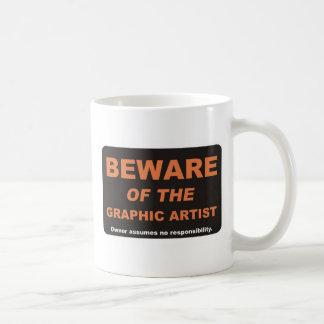 Guárdese artista gráfico taza de café