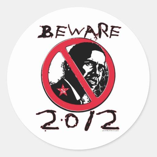Guárdese de Anti-Obama 2012 Pegatina Redonda