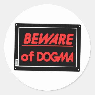 Guárdese de ateo del dogma etiquetas