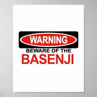 Guárdese de Basenji Poster