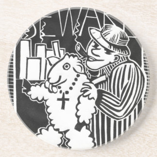 Guárdese de capitalistas en la ropa de la oveja posavasos manualidades