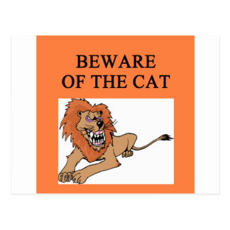 guárdese de chiste del gato tarjeta postal