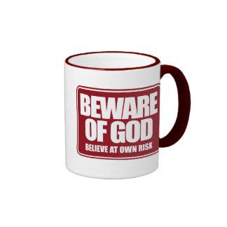 Guárdese de dios taza de dos colores