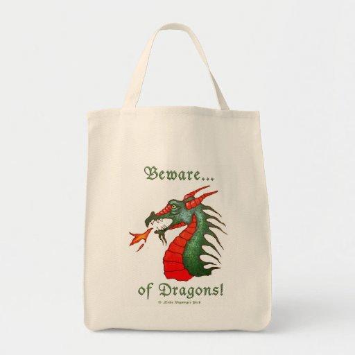 Guárdese de dragones bolsa tela para la compra