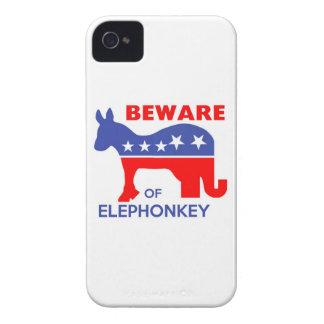 GUÁRDESE DE ELEPHONKEY - activismo/libertario/los  iPhone 4 Case-Mate Funda