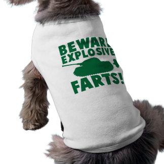¡Guárdese de EXPLOSIVO FARTS! Camisa De Perro