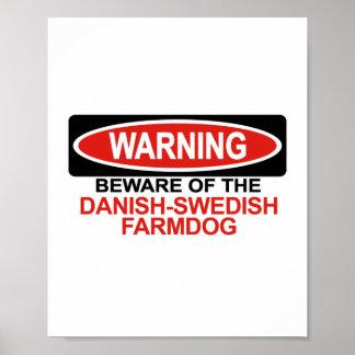 Guárdese de Farmdog Danés-Sueco Impresiones