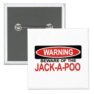 Guárdese de Jack-UNo-Poo Pin Cuadrada 5 Cm